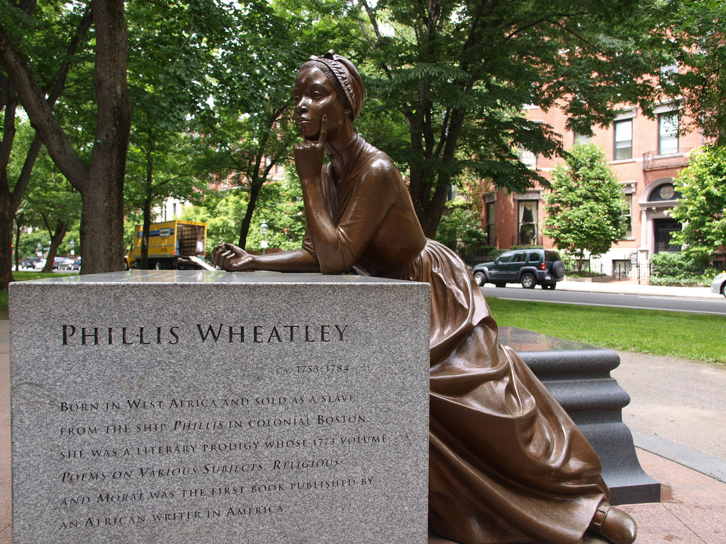 Poetical prodigious phillis wheatley her excellence for Statue jardin moderne