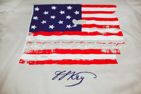 F. Scott Key Star Spangled Motto Our Cause it is Just War of 1812
