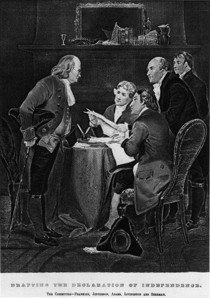 Roger Sherman, Benjamin Franklin, Thomas Jefferson, John Adams, Robert Livingston