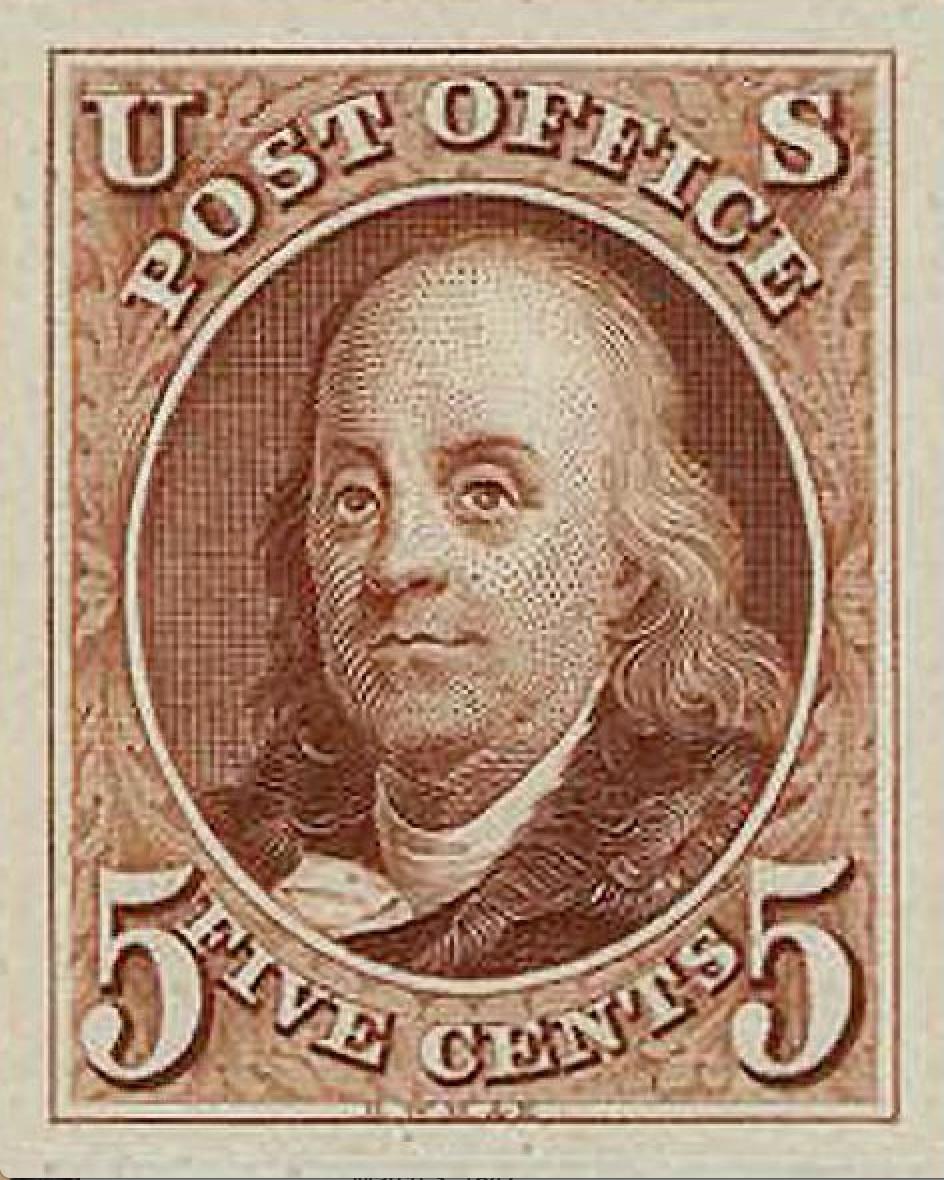 Benjamin Franklin first stamp