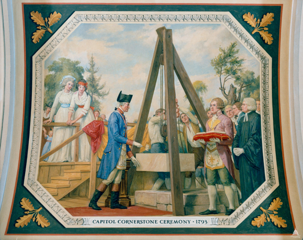 Capitol Cornerstone Ceremony 1793, Washington