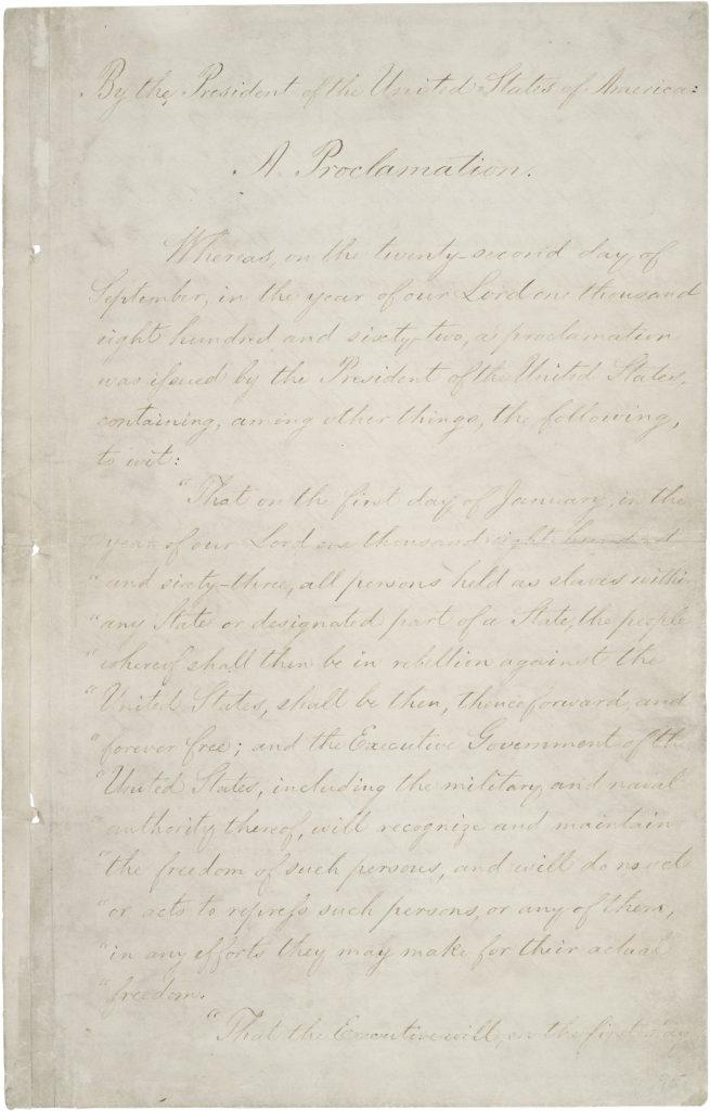 Emancipation Proclamation Abraham Lincoln