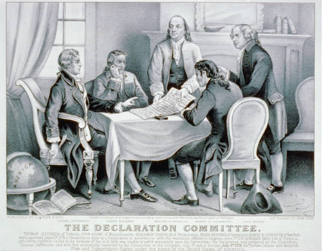 The Declaration Committee John Adams Thomas Jefferson Benjamin Franklin