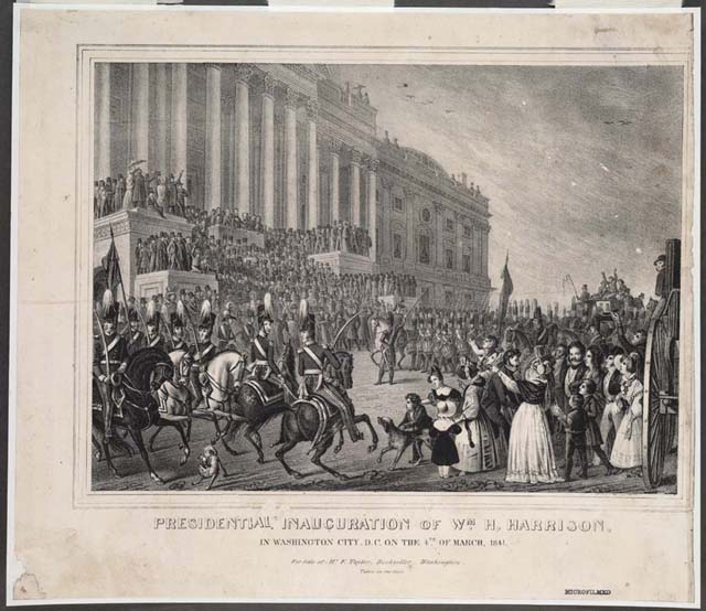 William Henry Harrison Inauguration