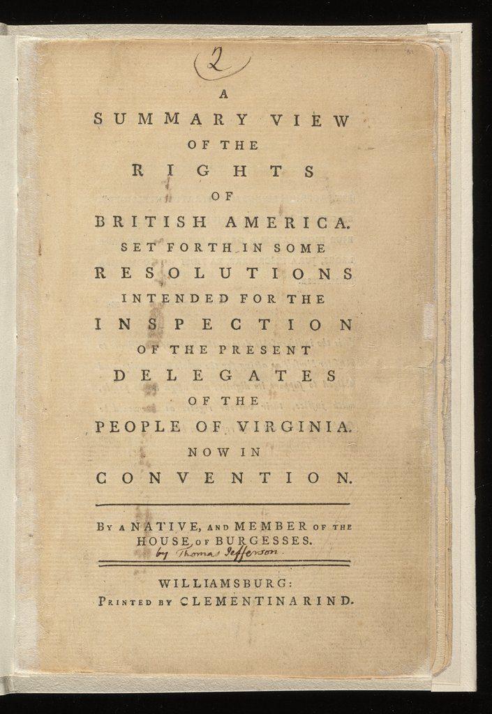 Thomas Jefferson Summary View