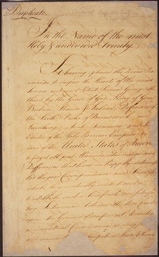 Treaty of Paris page 1