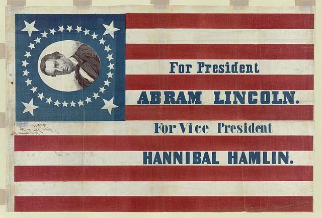 Abraham Lincoln banner 1860
