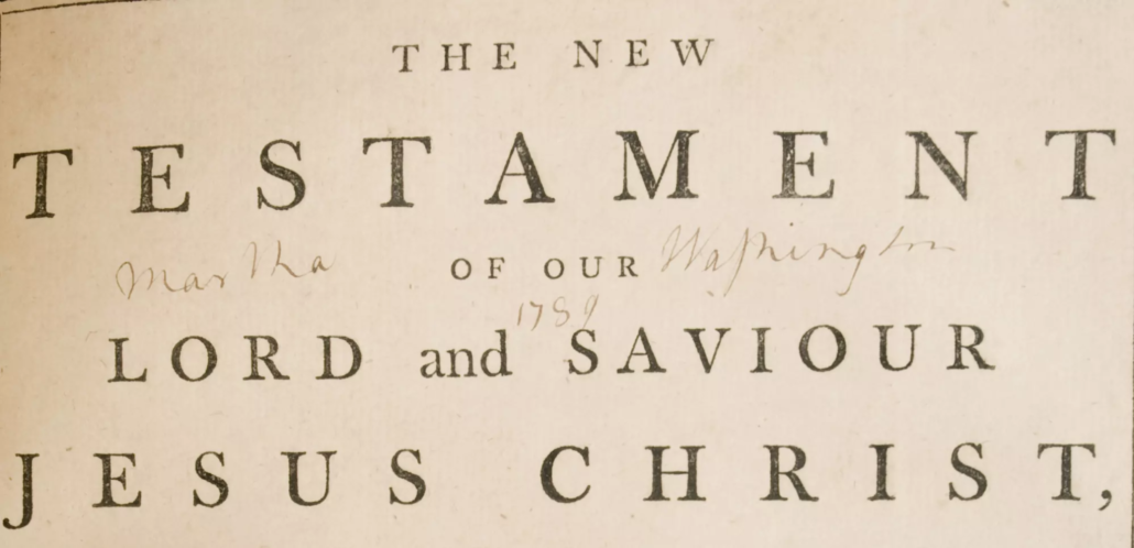 Martha Washington Bible