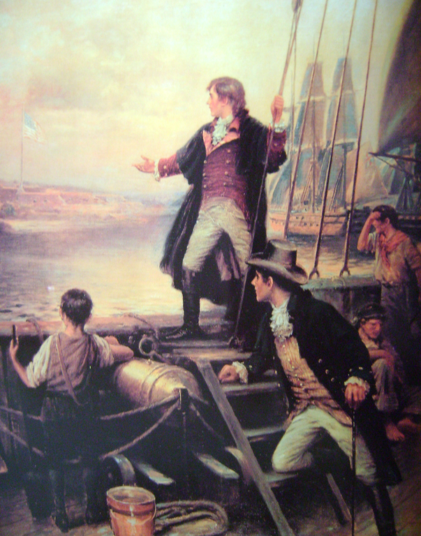 Francis Scott Key By the dawn's early light