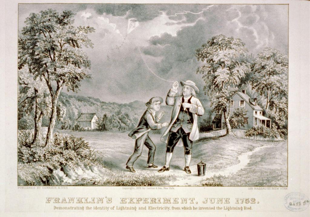 Benjamin Franklin Lightning Experiment