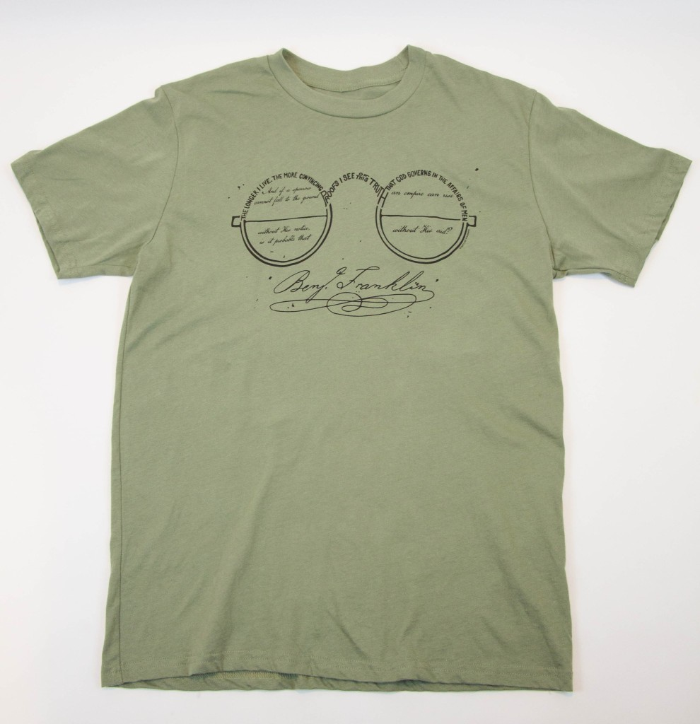 "Benjamin Franklin ""See... God governs"" t-shirt"