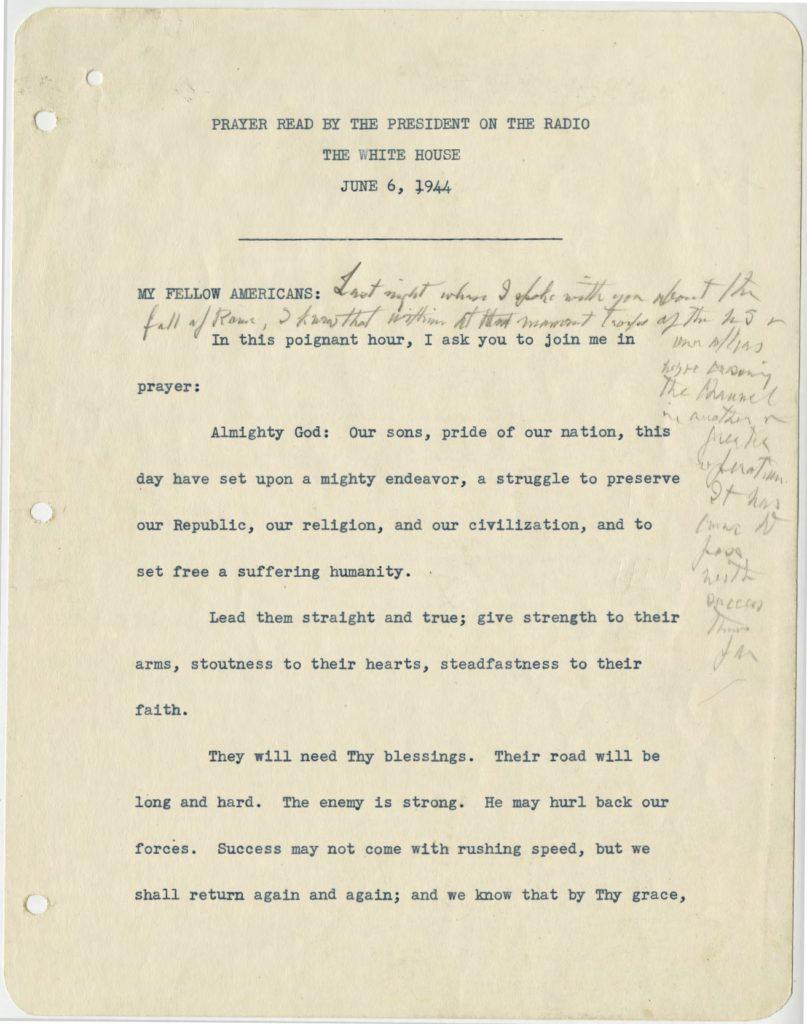 FDR D-Day Prayer