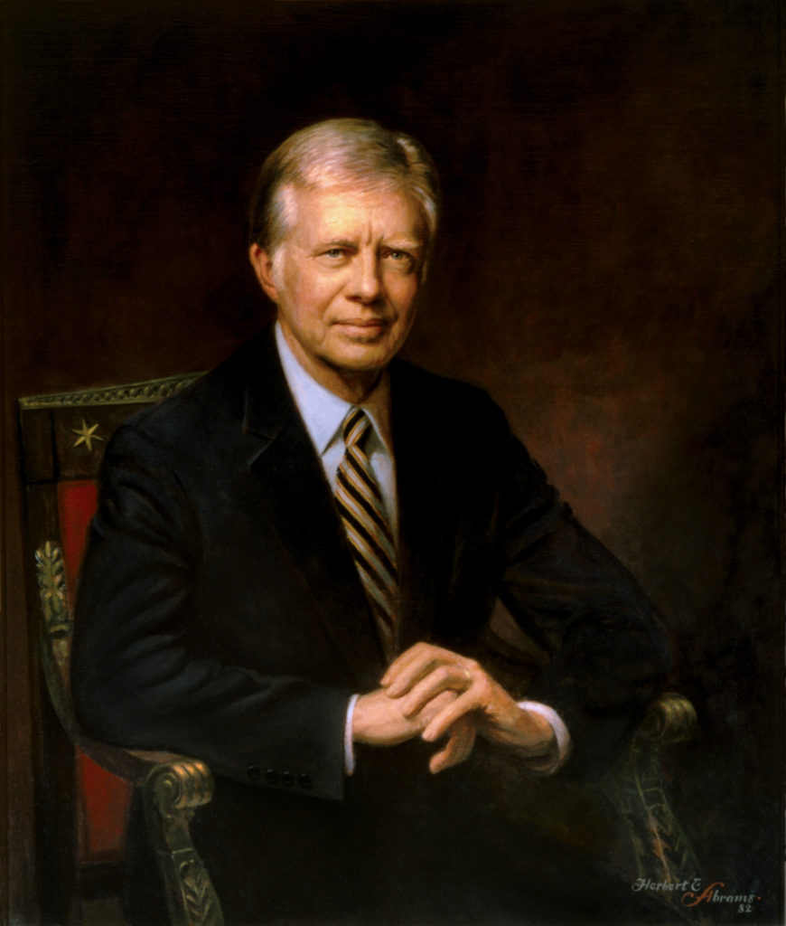 Official Presidential Portrait of Jimmy Carter