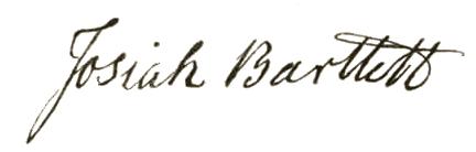 Josiah Bartlett signature