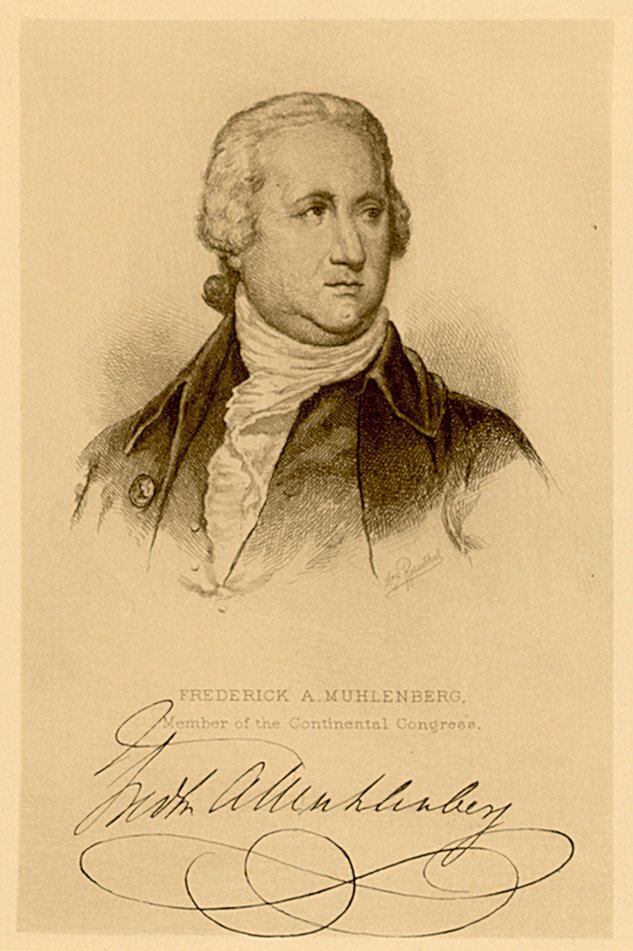 Frederick Augustus Muhlenberg First Speaker of the House