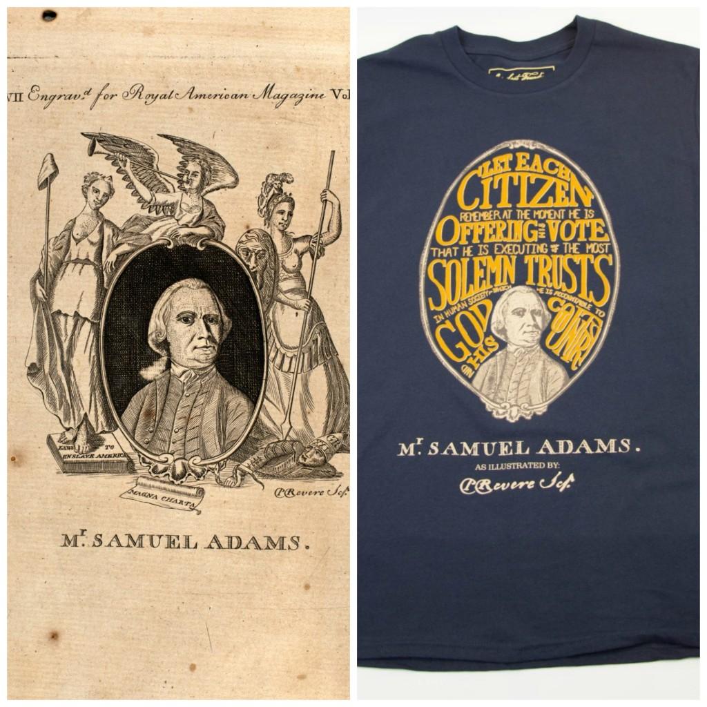 Samuel Adams Paul Revere artwork Sons of Liberty Stamp Act