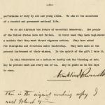Franklin Delano Roosevelt inaugural address