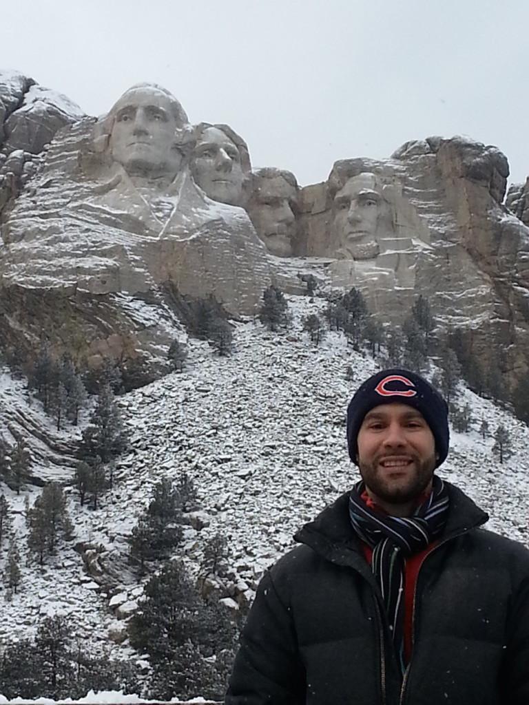 James at Mount Rushmore